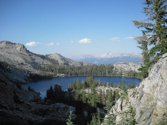 Der Blick auf May Lake