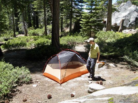 Camp 1 in der Nähe des Waterwheel Falls