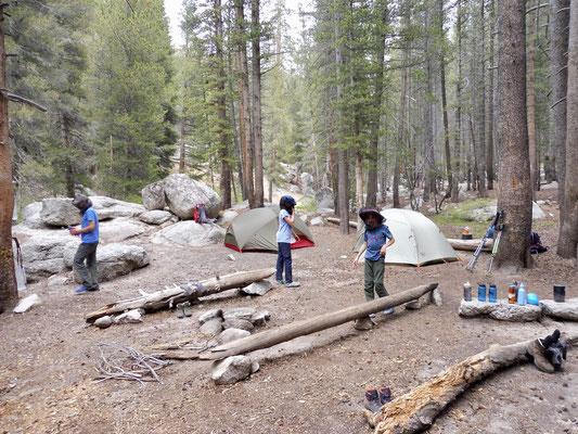 Unsere Campsite am Lower Rock Creek Crossing Camp