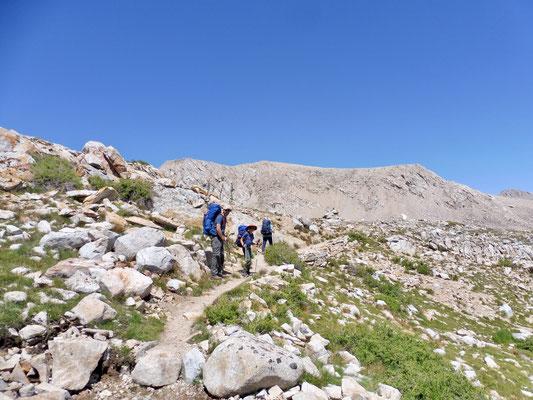 Von Tyndall Creek Richtung Forester Pass kurz vor unserem Tagesziel