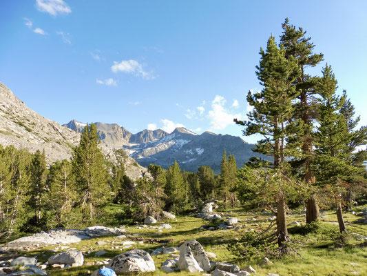 Von Twin Lakes ging es nun auf den Pinchot Pass