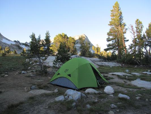 Sonnenaufgang über der Campsite