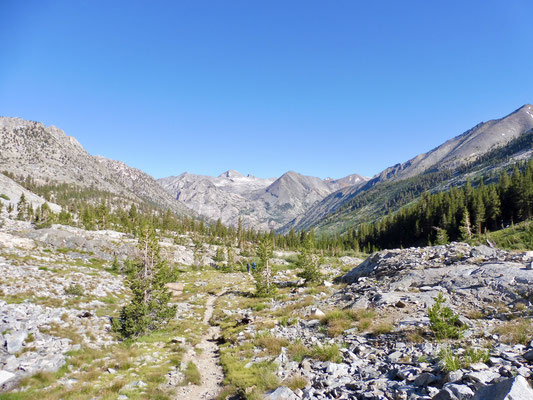Kurz bevor es steil bergab zu Woods Creek geht