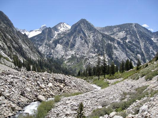 Bubbs Creek auf den letzten Kilometern