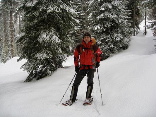 Und los gehts zur Pear Lake Ski Hut