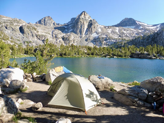Unser Camp bei Rae Lakes