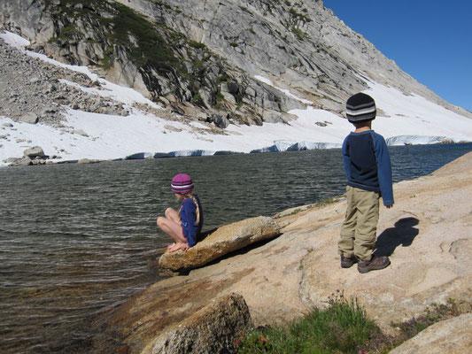 Das Wasser war eisig kalt