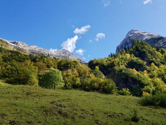 Der Herbst in voller Farbe
