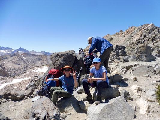 Geschafft, Glen Pass mit 3.635 Metern