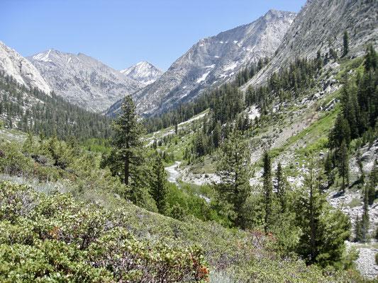 Aufstieg durch das Paradise Valley