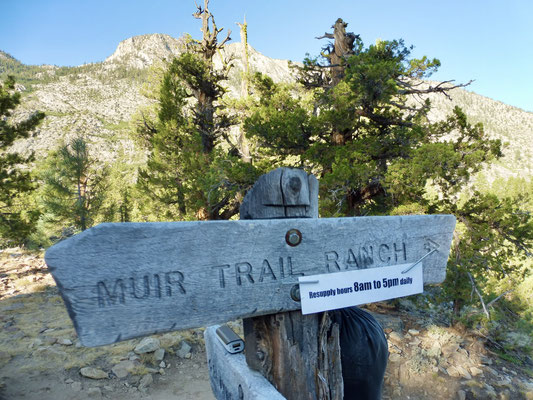 Noch ein kurzer Blick zurück zur Ranch und los ging es Richtung Selden Pass