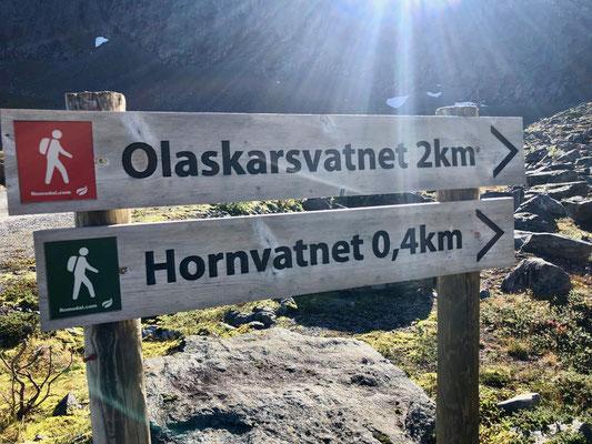Wir liefen den Olaskarsvatnet, was eine schwarze Tour in Norwegen ist konnte ich mir aus der Nähe ansehen.