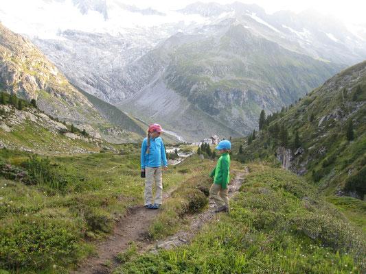 Auf dem Weg zurück zur Hütte, es war ein langern und harter aber einfach nur genialer Tag in den Bergen