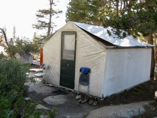 Unser Zelt im Vogelsang High Sierra Camp