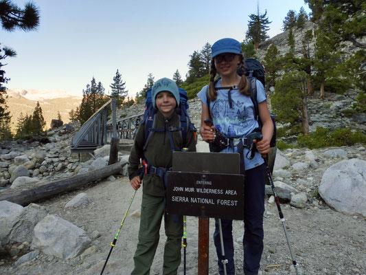 Wir verließen Kings Canyon NP und gingen von nun an durch die John Muir Wilderness