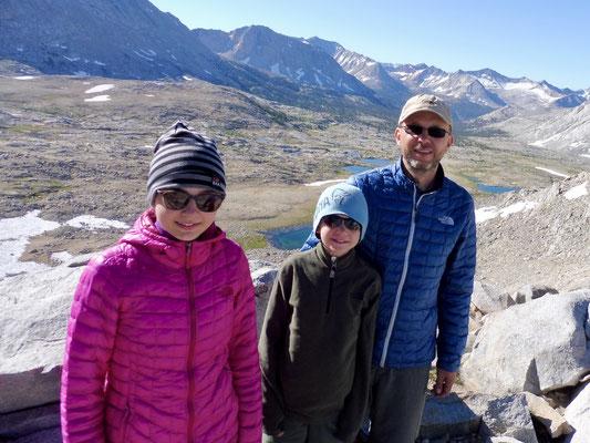 Top of Mather Pass, 3.688 Meter hoch, mit Blick zurück