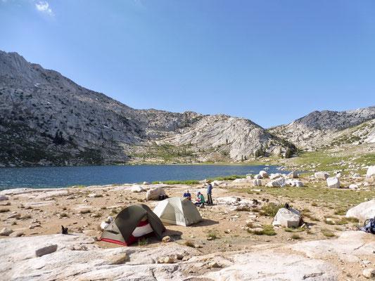 Unser Camp 3.169 Meter an Silver Pass Lake