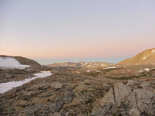 Sonnenuntergang von Diamond Mesa aus mit Blick zurück