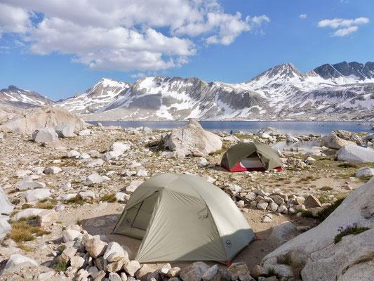 Unsere Campsite bei Wanda Lake