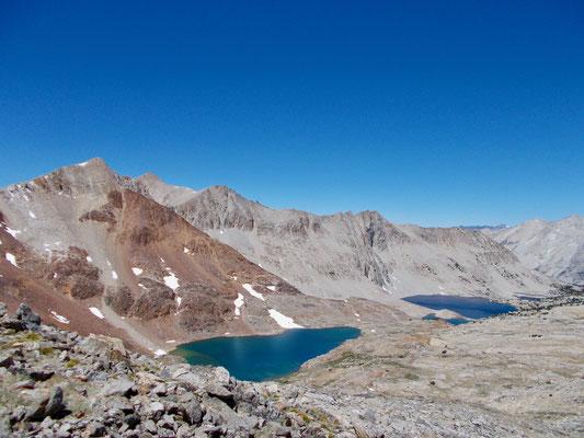 Der Blick nach Norden mit Lake Marjorie im Hintergrund.