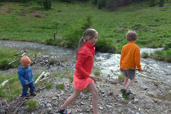 Wasser und Kinder, eine perfekte Kombination.