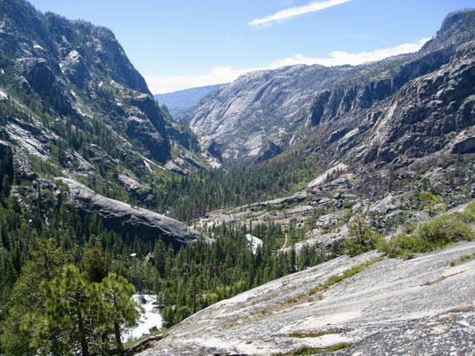 Der Blick in den Canyon indem wir am nächsten Tage abstiegen sind