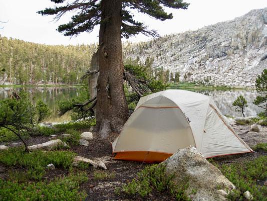 Endlich steht das Camp, wir waren ganz alleine
