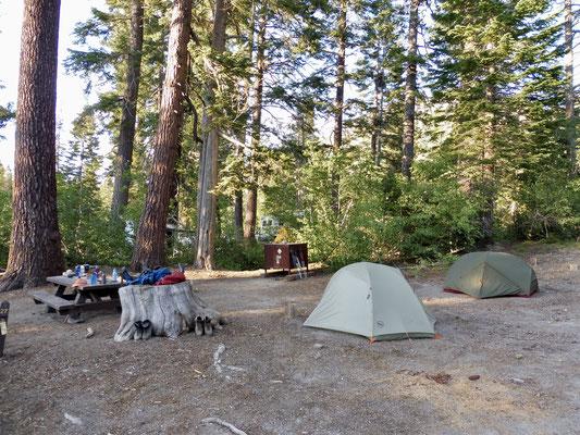Unser Camp im Campground bei Reds Meadow