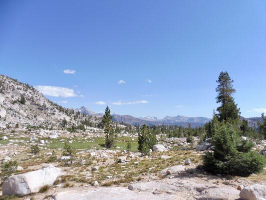 Das Panorama von Silver Pass Lake aus war umwerfend