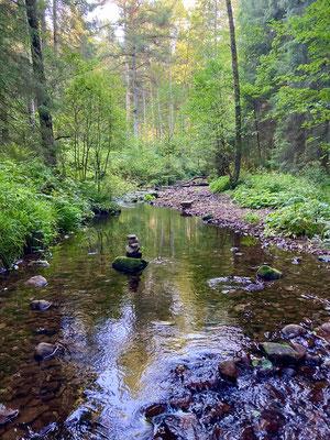 Gutellbach in der Nähe des Camps