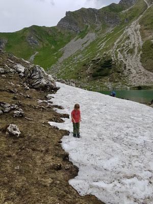 Sogar noch Schnee war zu finden