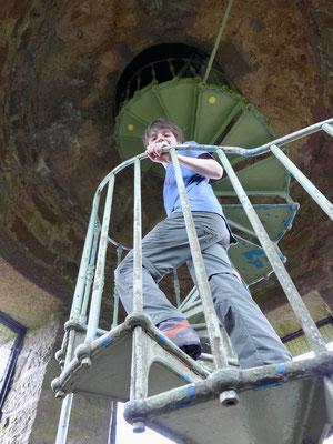 Auf dem Weg den Turm hinauf