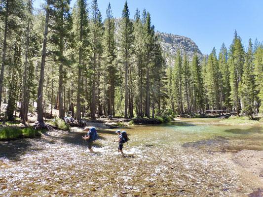 Die zweite Überquerung des Evolution Creek