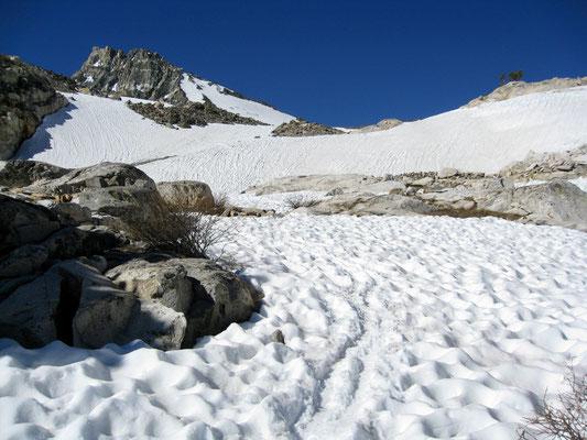 Aufstieg zum Glen Pass war großteils im weichen Schnee