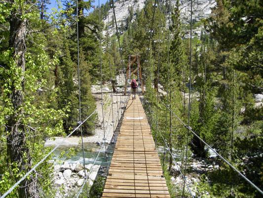 Suspension Bridge bei Woods Creek Campground