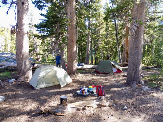 Unser Camp an Gladys Lake, da ware die Welt noch in Ordnung