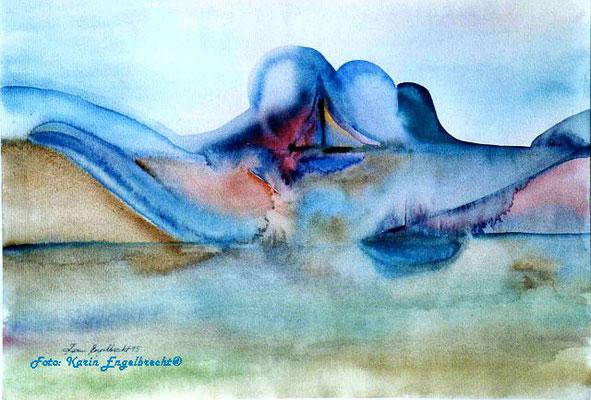 """Wellengang"" 1995 Aquarell"