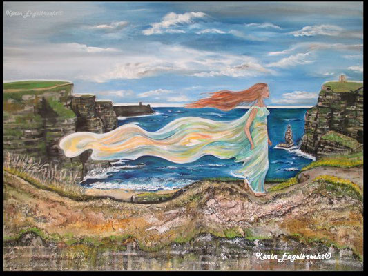 """Spirit of Moher"" 2014 Acryl auf Leinwand - Relief"