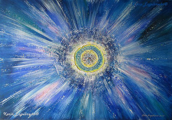 """Supernova"" 2015 Acryl - Mischtechnik"