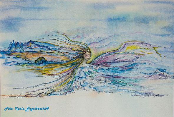 """""""Seenymphe"""" 2009 Aquarell"""
