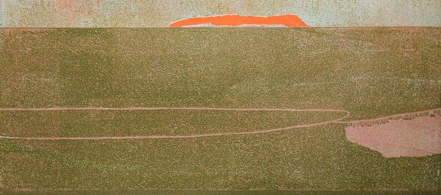 """albzeit"", 2012, Öl auf Leinwand, ca. 43 x 111 cm"