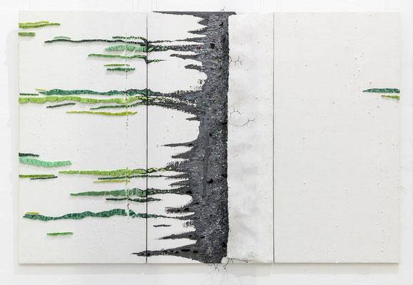 Abgrund, 2019, Zeitgenössisches Mosaik, B 180 x H 60 T 4cm