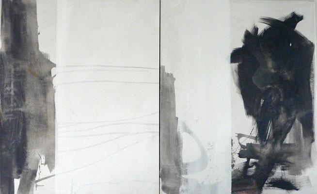 """Homeland"", Acryl auf Leinwand, 100 x 160 cm (2-teilig), 2013"