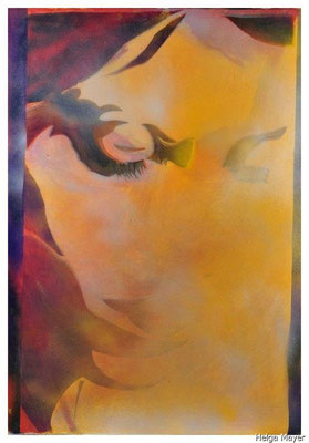 Anina III, 2009,  Spraypaint auf Leinwand, 100x70