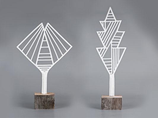 Ginko / Quercus fantasia, 2018, Keramik, Höhe: 51 / 59 cm
