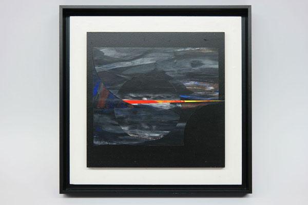 Sommernachtstraum 2, 2018, Collage, Malerei auf Papier, 30 x 30 cm