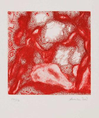 Tanz um..., Radierung, Blatt: 250x250 mm;  Druck: 145x145 mm