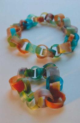 """""""bunte Vielfalt"""",  Halskette und Armband"""
