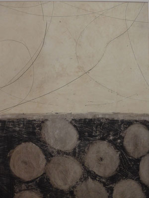 o.T., 2016, Öl auf Papier, 70 x 50 cm