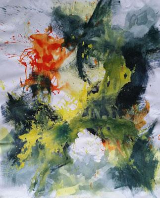 Secrets, 2018, Acryl auf Leinwand, 160 x 135 cm